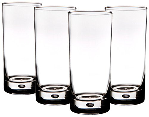 Home Essentials Bubble 17oz Highball Glass, Set of 4