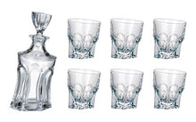 Crystalex Bohemia Acapulco Set, 1 Glass, 23oz Decanter with Stopper, 6 Tumblers
