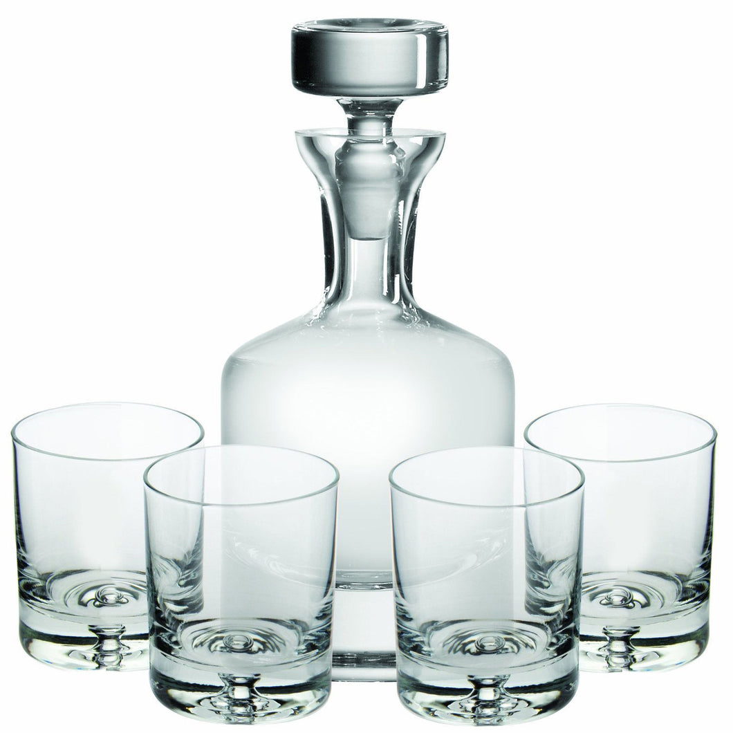 Ravenscroft Crystal Buckingham 32 oz Whisky Decanter 5-piece Gift Set, Lead-Free