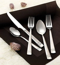 Italian Collection 'Madison Platinum' 20-Pc Silverware Flatware Serving Set