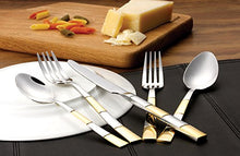 Italian Collection 'Amanda Gold' 20pc Premium Stainless Steel Flatware Set for 4