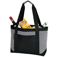 (D) Large Insulated Cooler Tote, Picnic Backpack Bag for Outdoor (Houndstooth)
