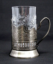 Cut Crystal Drinking Glass for Hot or Cold Fits Russian Metal Glass Holder