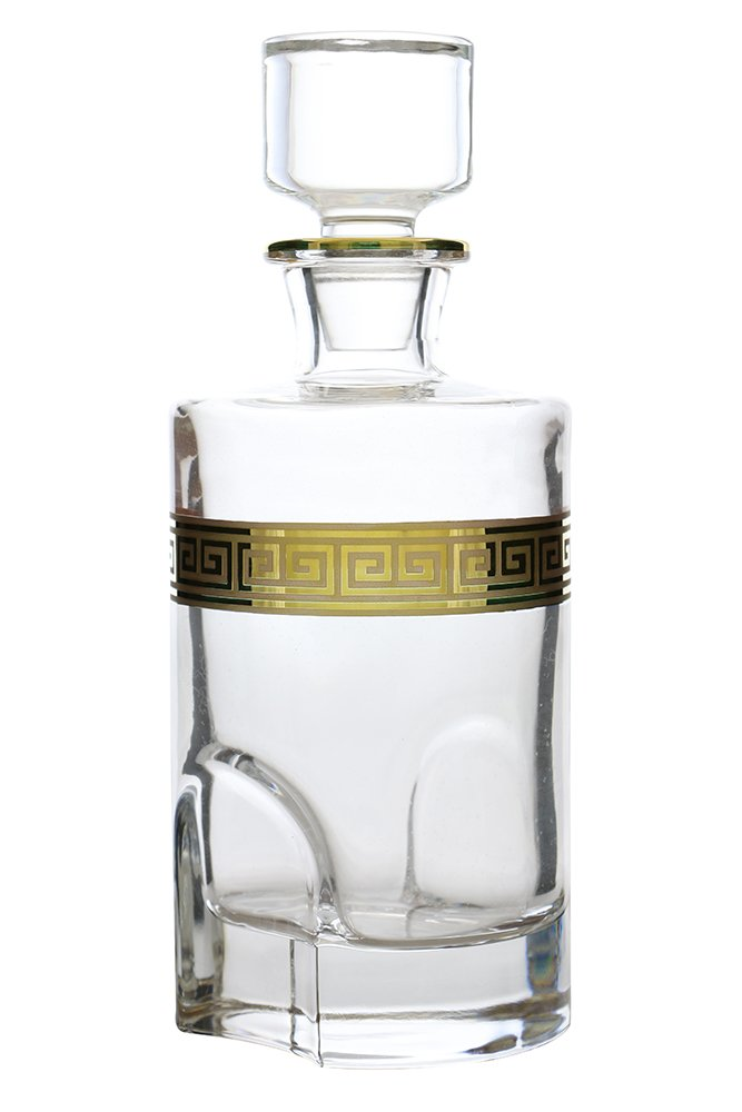 (D) Decanter for Whisky/Scotch with Greek Key Pattern 9