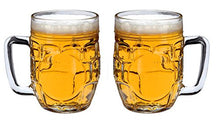SET of 1 or 2-pc Luminarc 21 Oz Crystal-Clear Beer and Beer Cocktails Mugs (2)