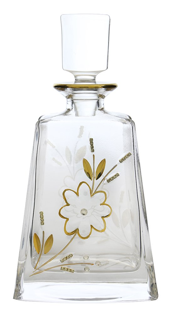 (D) Decanter for Whisky with Floral Pattern 11