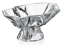 "Decorative Vintage Handmade Crystal Candy Bowl on a Stem ""Angles"" 13-in"