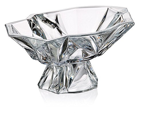 Decorative Vintage Handmade Crystal Candy Bowl on a Stem