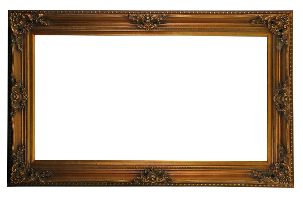 (D) Vintage Ornate Gilded Picture Frame 54x34 inch, Baroque Wall Hanging Frame