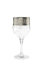 Crystal Goose, 8Oz Wine Glasses on Stem with Platinum Trim, Gift Box 6-Piece Set