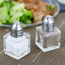 Salt and Pepper Shakers Glass, Modern Style Kitchen Utensil 1.2 Oz (2 Pc)