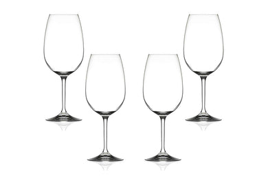 Invino Gran Cuvee Stemmed Glasses 22 Oz, Modern Crystal Clear Goblets Set of (4)
