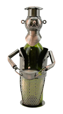 (D) Wine Bottle Holder, Chef with Pot, Bar Counter Decoration