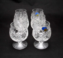 6 Russian CUT Crystal Cognac Snifters 200ml/7oz Hand Made