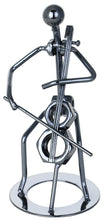 (D) Metal Celo Player Decorative Figurine 6.5 Inch, Gift for Musician