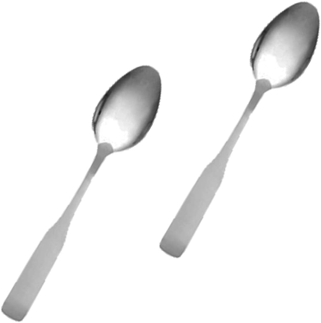 Stainless Steel Dessert Spoon, Flatware Set 'Esquire' for (2)