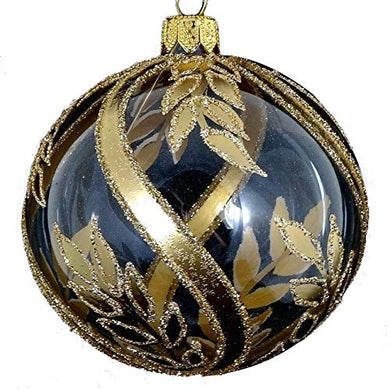 GIFTS PLAZA (D) Gold Clear Holiday Ornament Decor 4