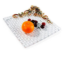 RORO Wedding Gift, Jeweled Swarovski, Bohemia Crystal Snail Fruit Plate,