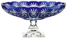 Arnstadt Crystal Vintage Cobalt Blue Round Centerpiece Bowl, Colored Cut Crystal