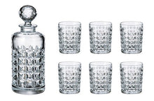 Crystalex Bohemia Diamond Set, 1 Glass 23oz, Decanter with Stopper, Tumblers