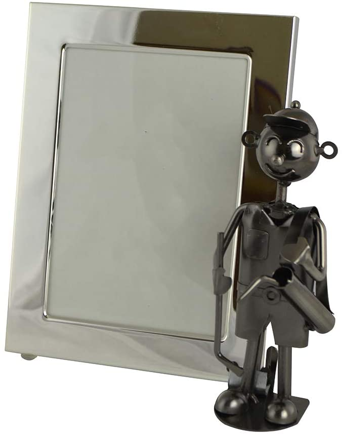 (D) Metal Silver Photo Frame Gift for Collogue (Golfer)