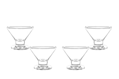 Imperial Martini Glass Bowl, Ice Cream Bowl, Dessert Cup 7.5 Oz, Set of (4)