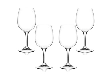 Daily Wine Glasses 9.5 Oz, Modern Crystal Clear Goblets, Glassware Set of (4)