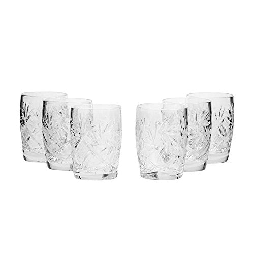 Neman Glassworks, 1.5-Oz Russian Crystal Shot Vodka Glasses, 6-pc Vintage Set