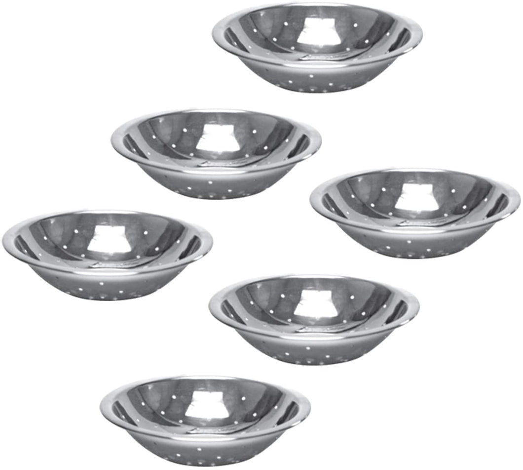 Stainless Steel Perforated Mixing Bowl for Cooking, Bakeware (6 PC, 2 QT)