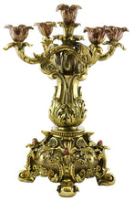 (D) Set of 2-pc Original Gold Baroque Candle Holders 15""