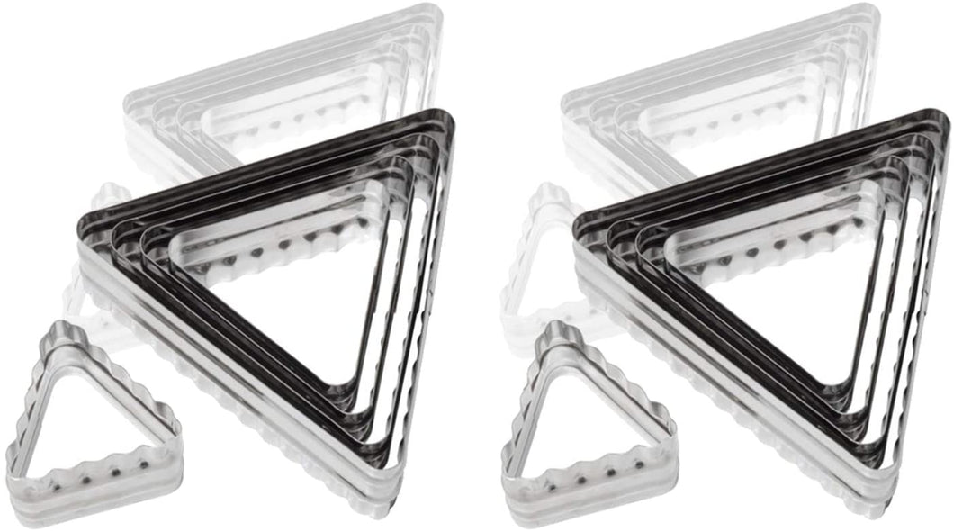 Ateco 52560 6 Pc Double Sided Triangle Cutter Set, Bakeware (6 Pack)