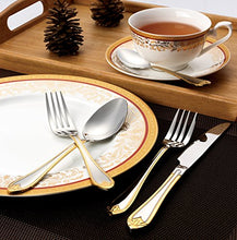 Italian Collection 'Lorena Gold' 20-Pc Premium Silverware Flatware Serving Set