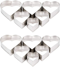 Ateco 7804 Stainless Steel 6 Piece Plain Heart Cutter Set, Bakeware (12 Pack)