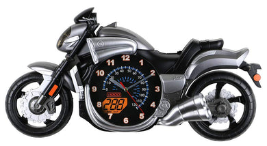 (D) 23x12 Yamaha V-Max Motorcycle Wall Clock (Gray)