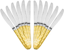 Italian Collection 'Honeycomb' 12pc Serving Knives, Flatware Set for 12