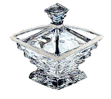 Italian Collection Crystal Square Jewelry Box, Decorated with Swarovski Crystal