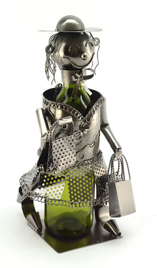 (D) Wine Bottle Holder, Shopping Lady, Bar Counter Decoration