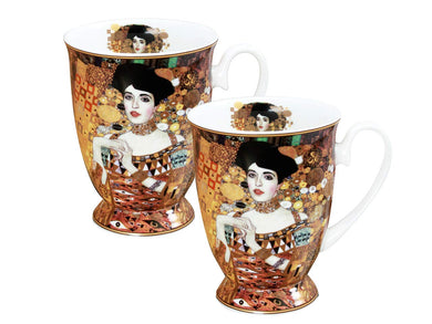Carmani Painters 2-pc Tea or Coffee Cup, Adele Portrait Gustav Klimt Collection