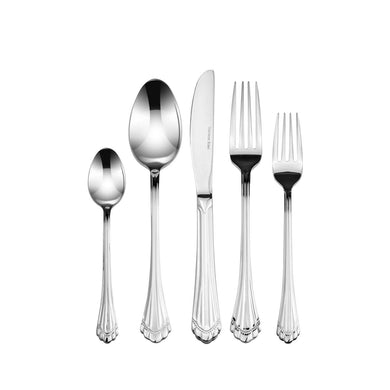 Italian Collection 'Silver Shell' 20pc Premium Surgical Stainless Silverware Flatware