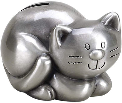 (D) 1 Year Birthday Gifts for Boy, Silver Coin Bank for Adults or Kids, Cat