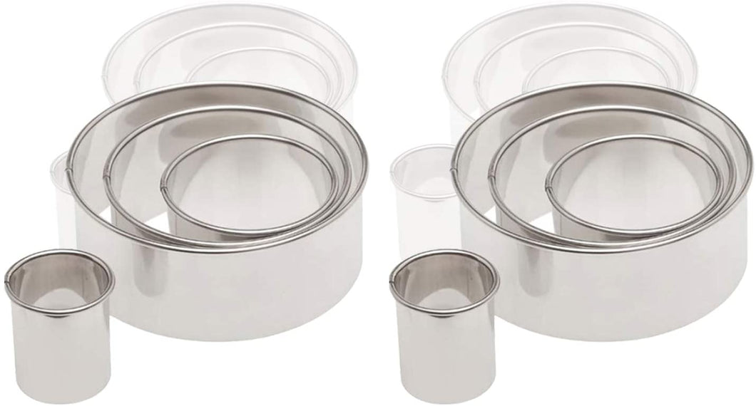 Ateco 1440 Stainless Steel 4 Pc Round Cutter Set, Bakeware (6 Pack)
