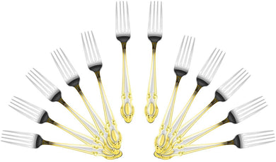 Italian Collection 'Drop' 12pc Serving Forks, Flatware Set for 12
