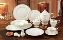 Royalty Porcelain 57-pc Banquet Dinnerware Set for 8, Gold Bone China (5868-57)