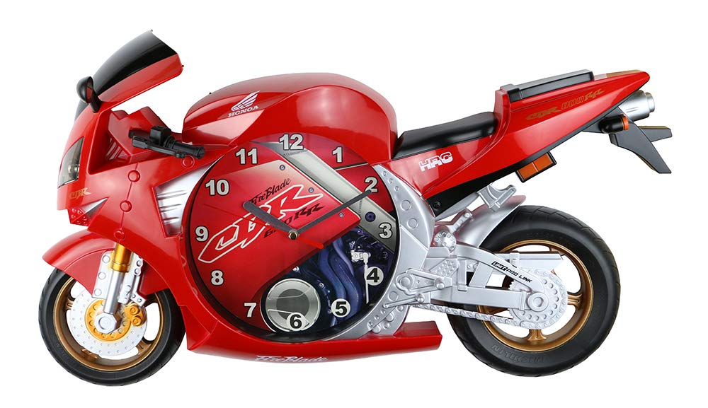 (D) Honda CBR Motorcycle Wall Clock 20x11 inches (Red)