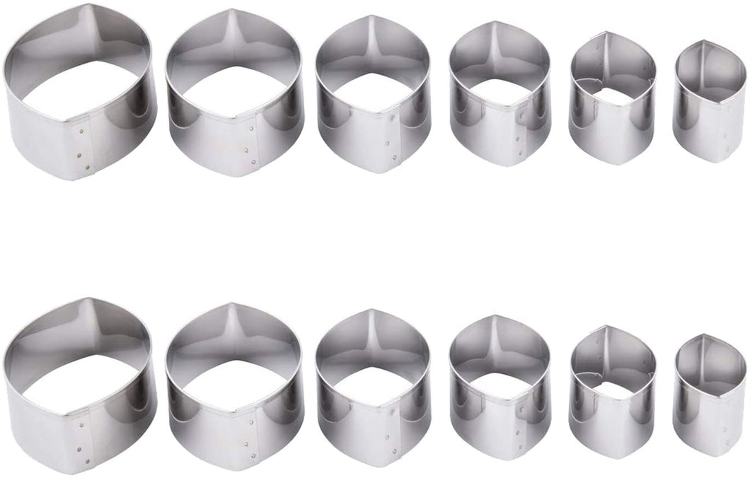 Ateco 5255 Aluminum 6 Piece Plain FootballCutter Set, Bakeware (6 Packs)
