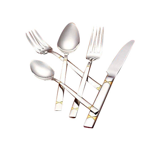 Italian Collection 'Milana Gold' 20-Pc Premium Silverware Flatware Serving Set