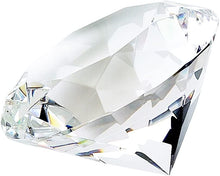 (D) Bright Optic Diamond Shaped Paperweight Desk, Gift for Boss