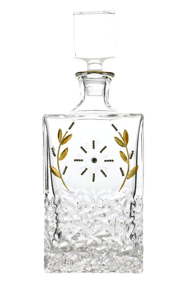 (D) Decanter for Scotch with Floral Pattern 12