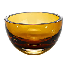 (D) Centerpiece 'Penelope' Amber Fruit Bowl, Lead Free Crystal Glass