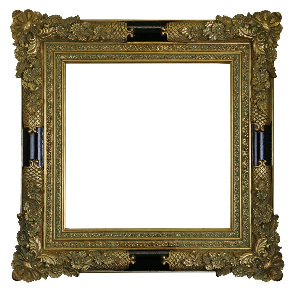 (D) Vintage Ornate Gilded Picture Frame 28x28 inch, Baroque Wall Hanging Frame